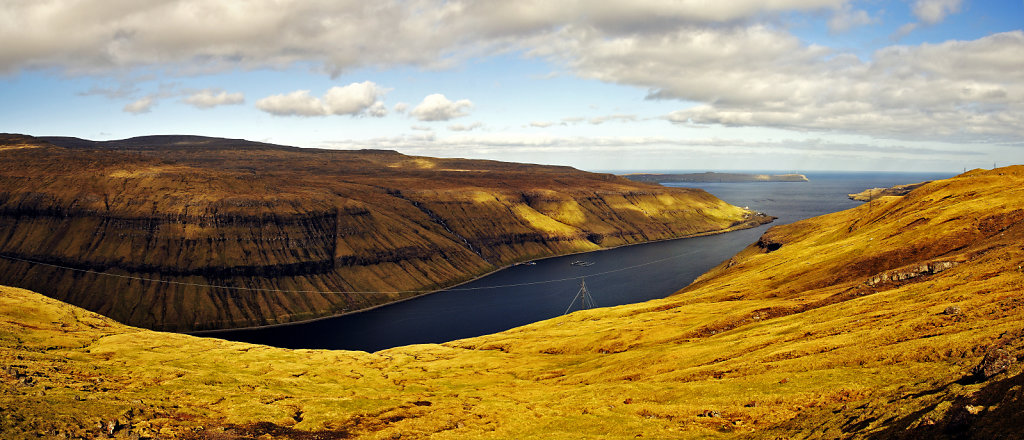 färöer inseln - auf streymoy - kaldbaksfjord teilpanorama