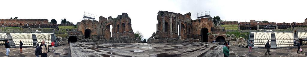 amphittheater - 360° panorama - vor der bühne - taormina 2015