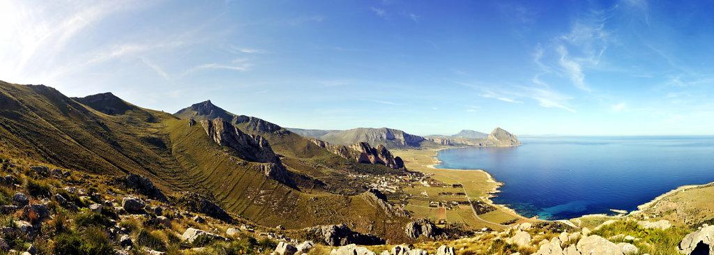 die nordwestspitze mit san vito lo capo  - teilpanorama teil 2 -