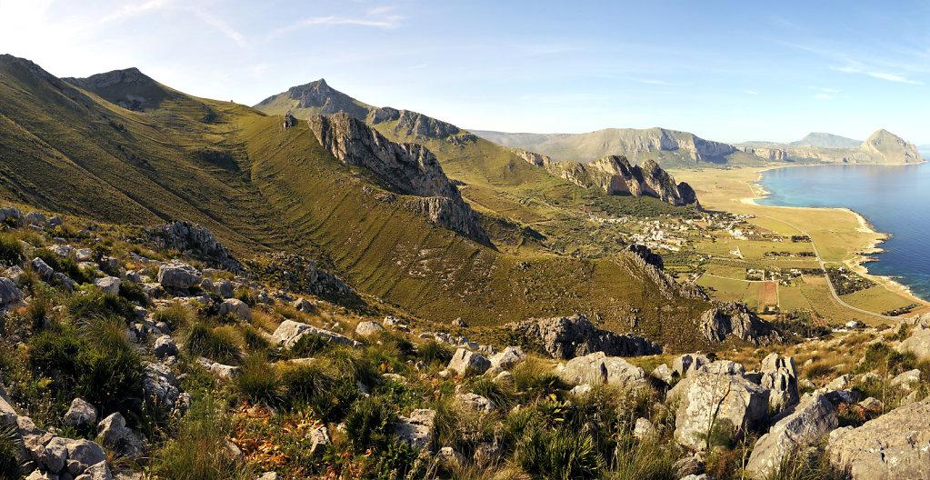 die nordwestspitze mit san vito lo capo  - teilpanorama teil 4 -