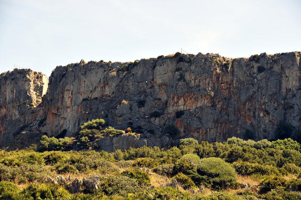 die nordwestspitze mit san vito lo capo - kletterwand - 2015 (19