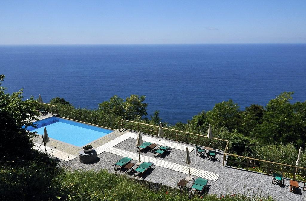 cinque terre – zwischen levanto und monterosso - der pool
