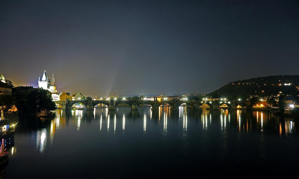 tschechien - prag - night shots - karlsbrücke