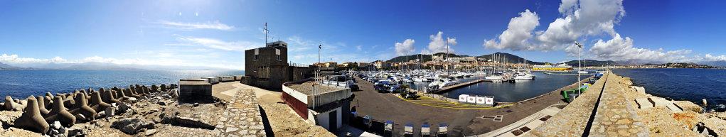 korsika  - ajaccio – port tino rossi  360°  panorama