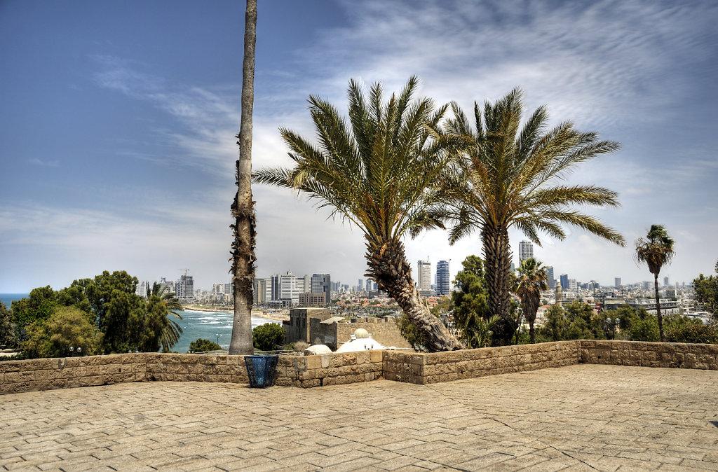 israel – tel aviv - jaffa - blick auf tel aviv