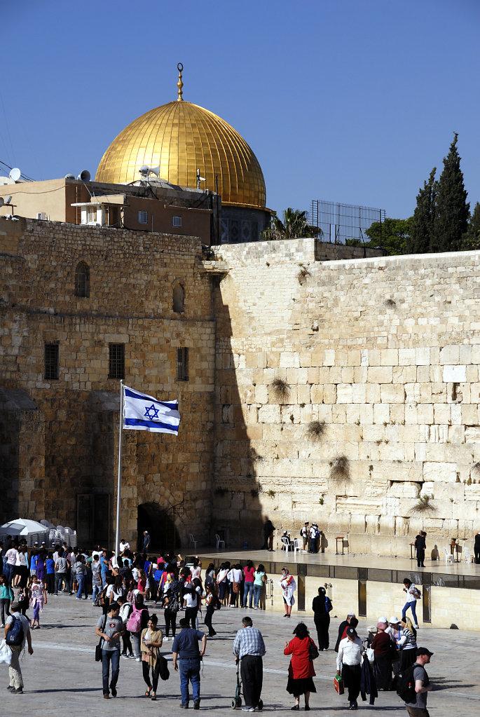 israel – jerusalem - - klagemauer und felsendom