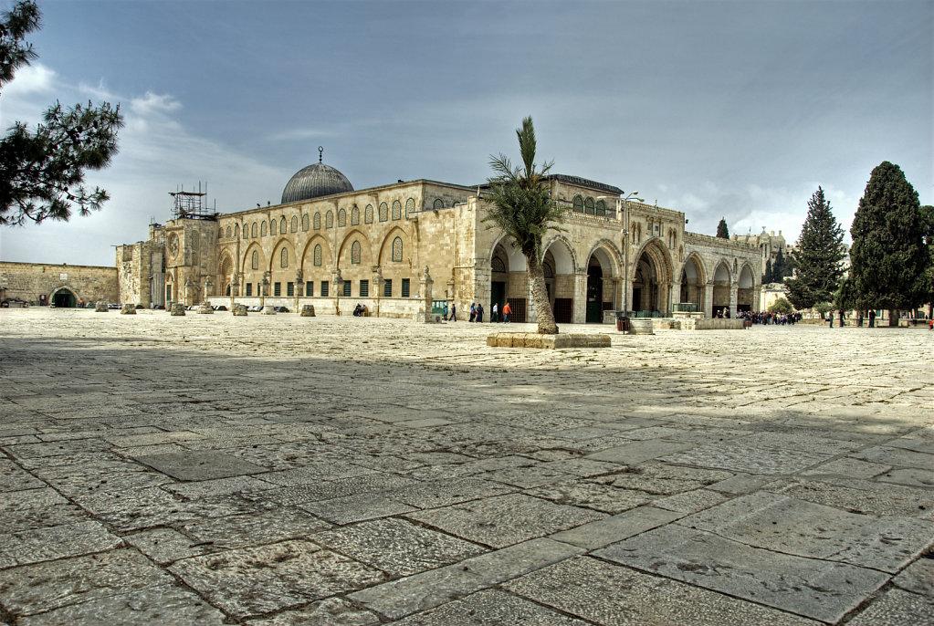israel – jerusalem - der tempelberg - die al-aqsa moschee teil