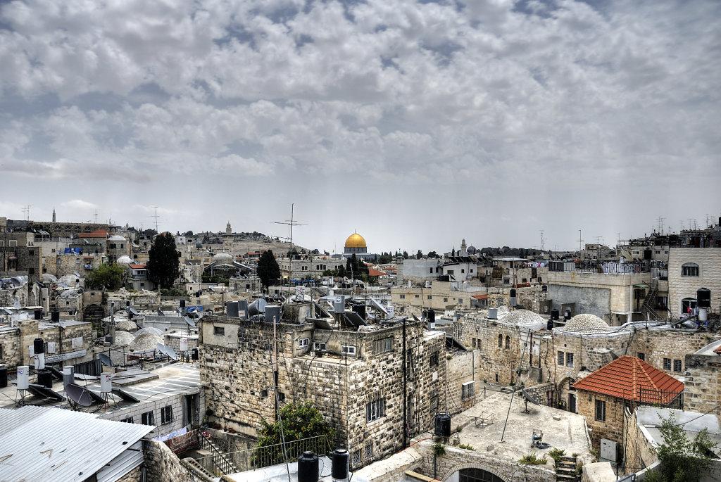 israel – jerusalem - der blick von der mauer – über den dä