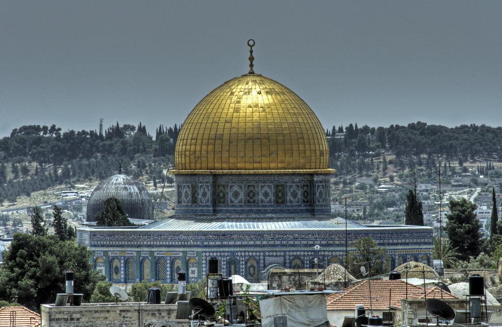 israel – jerusalem - der blick von der mauer - der felsendom