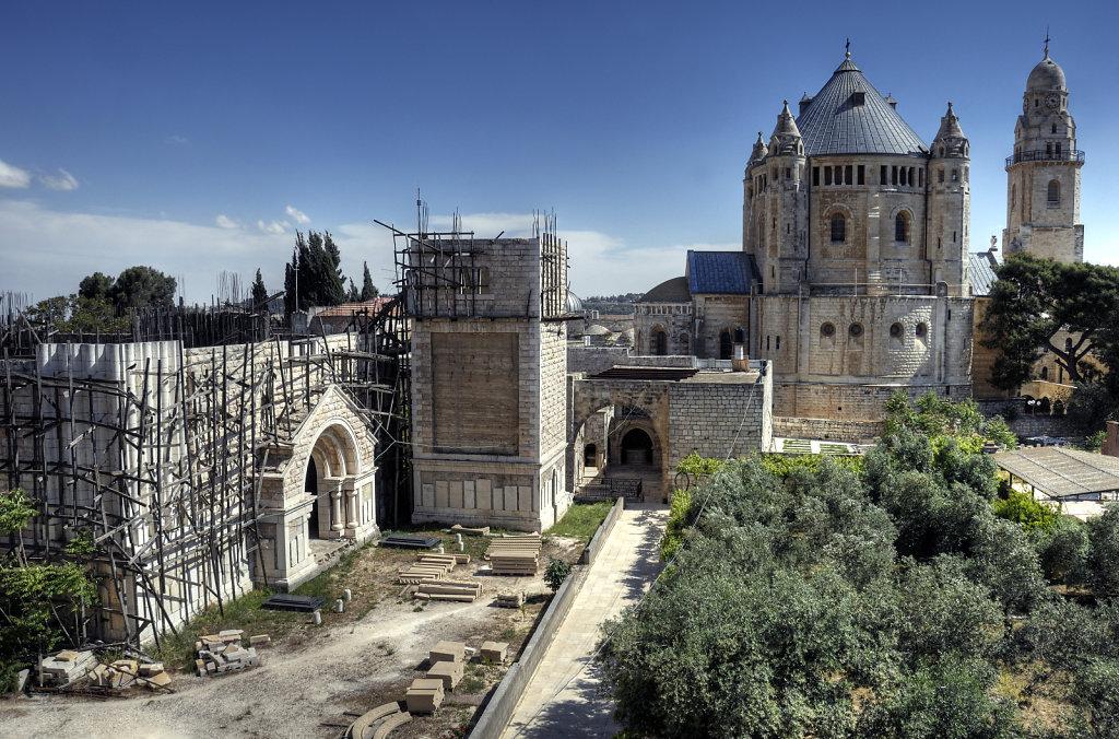 israel – jerusalem - der blick von der mauer – berg zion tei