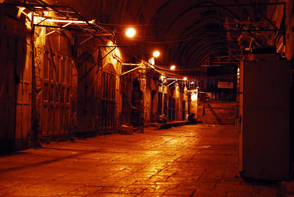 israel – jerusalem - in der altstadt nachts teil 3