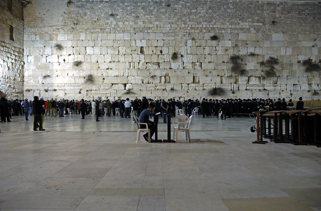 israel – jerusalem - vor der klagemauer nachts teil 3