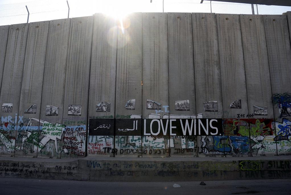 palästina- bethlehem - love wins