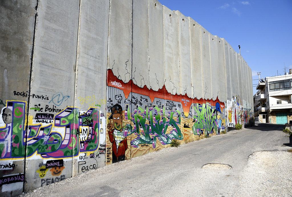 palästina- bethlehem - die mauer teil 3