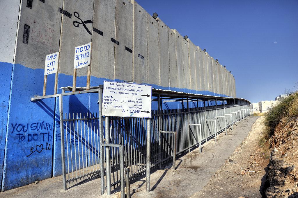 palästina- bethlehem - exit -entrance