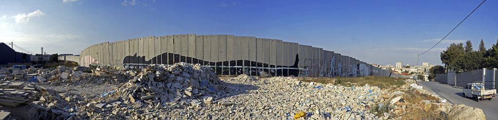 palästina - bethlehem - die mauer teilpanorama