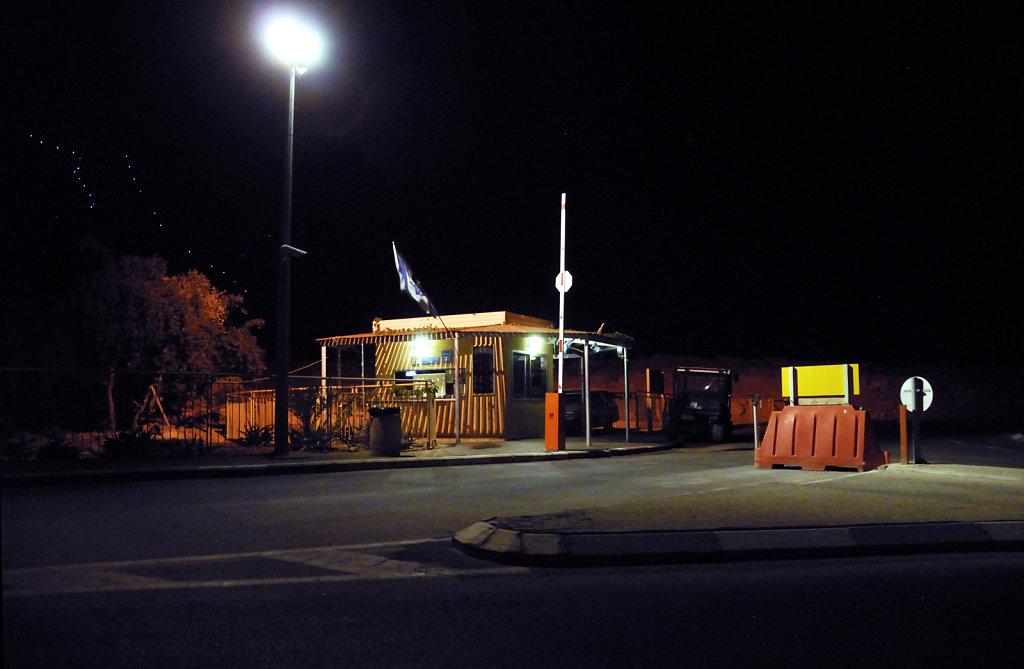 israel- totes meer - masada nachts
