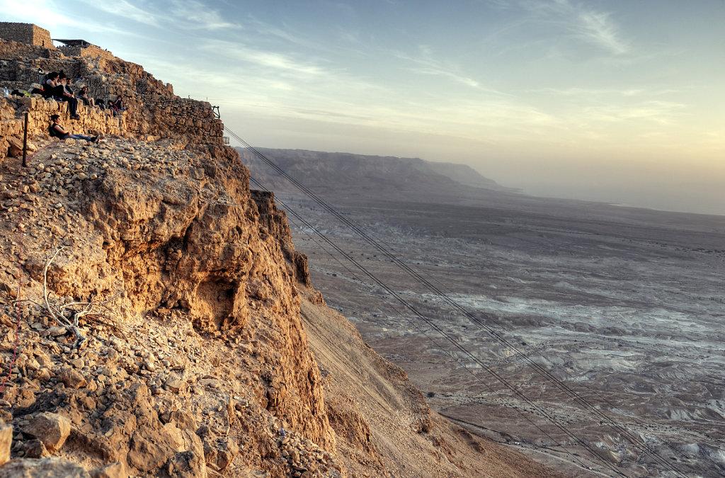 israel- totes meer - masada - morgensonne