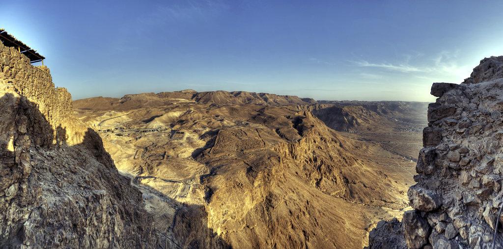 israel- totes meer - masada  – teilpanorama westen
