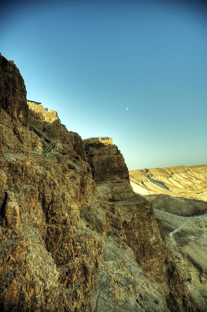 israel- totes meer - masada  - westseite
