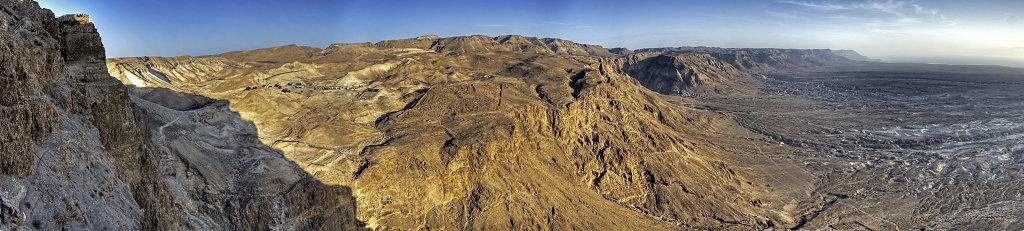israel- totes meer - masada  -teilpanorama nordwest