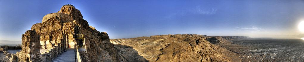 israel- totes meer - masada - teilpanorama palast des herodes