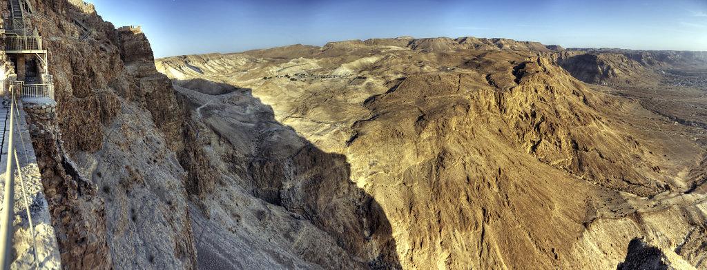 israel- totes meer - masada  - teilpanorama westen teil 2