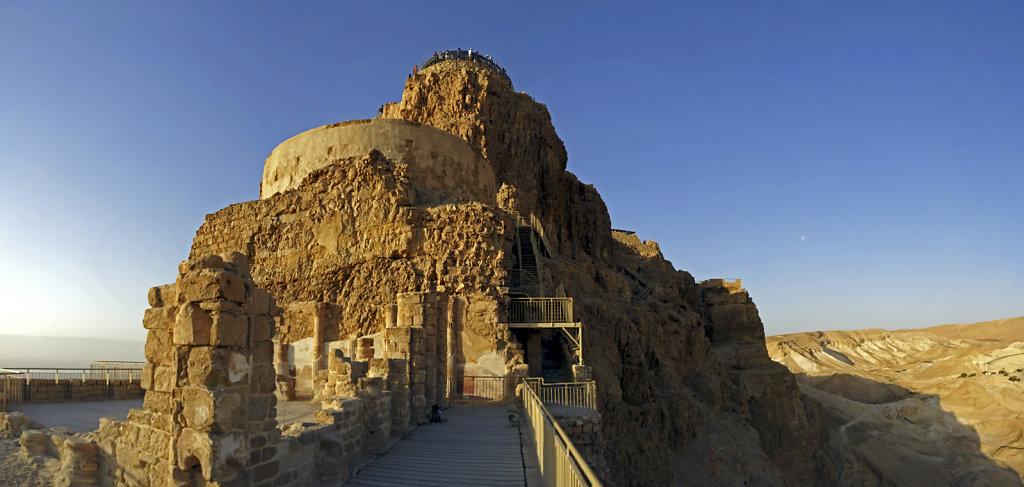 israel- totes meer - masada  - teilpanorama palast des herodes t