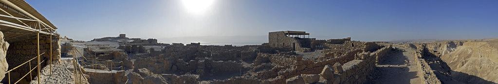 israel- totes meer - masada – teilpanorama plateau