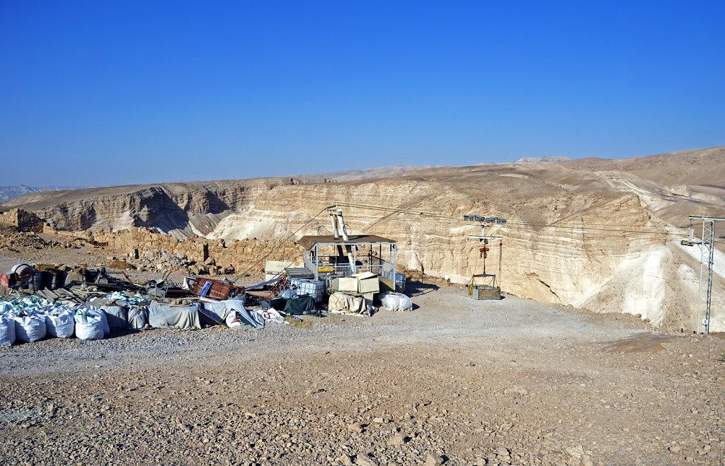 israel- totes meer - masada  – die seilbahn teil 2