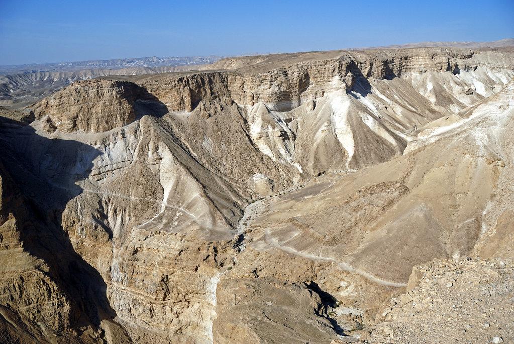 israel- totes meer - masada  – nach westen