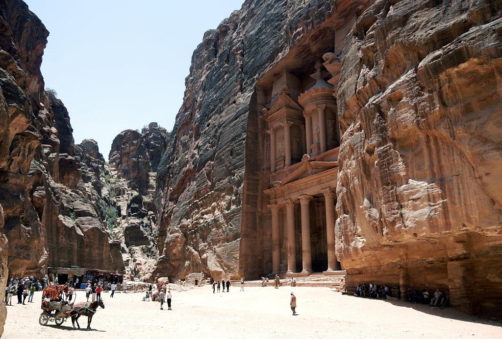 jordanien - petra - jordanien - petra - al kazane / das schatzha