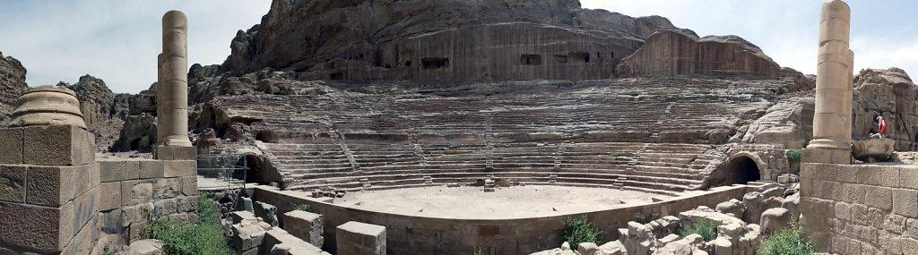 jordanien - petra - das  römische theater