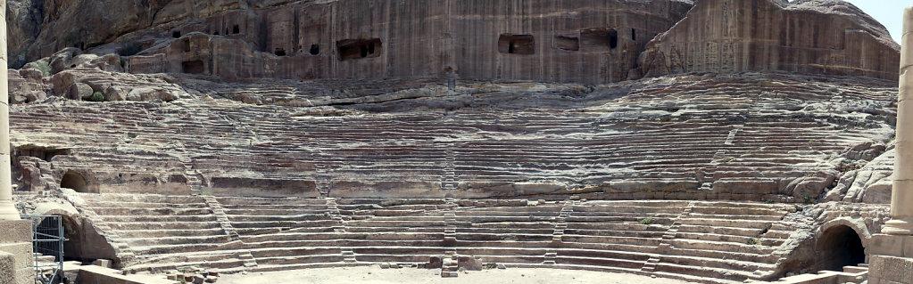 jordanien - petra - das  römische theater teil 2