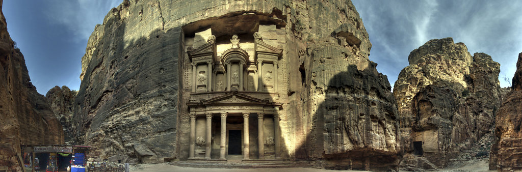 jordanien - petra - jordanien - petra -  al kazane / das schatzh