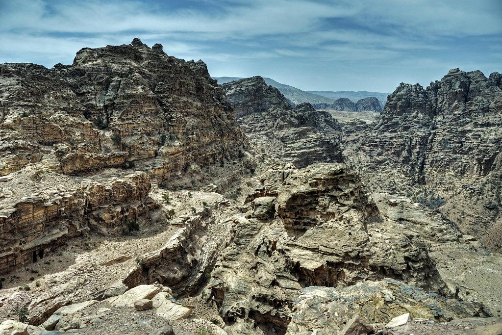 jordanien - petra - blick über die berge teil 2