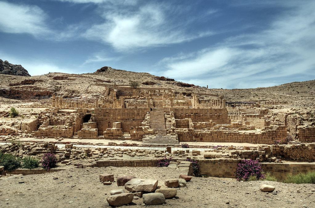 jordanien - petra - der große tempel teil 3