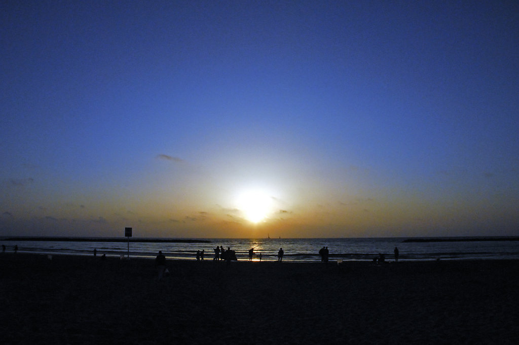 israel – tel aviv - sonnenuntergang am strand teil 3