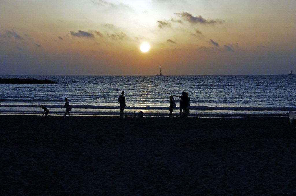 israel – tel aviv - sonnenuntergang am strand teil 4