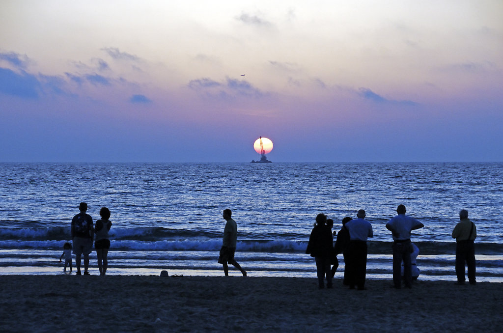 israel – tel aviv - sonnenuntergang am strand teil 5