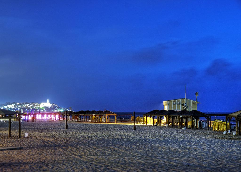 israel – tel aviv - am strand nachts teil 2