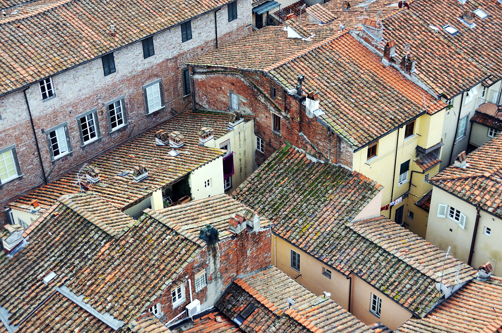 italien- lucca - blick von oben detail