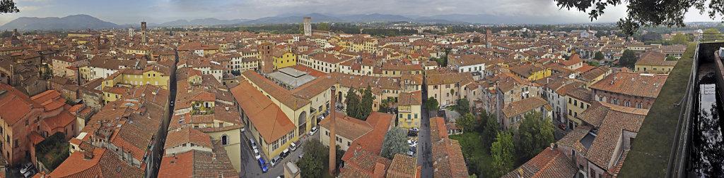 italien - lucca -  torre guinigi - Blick  nach norden - teilpan
