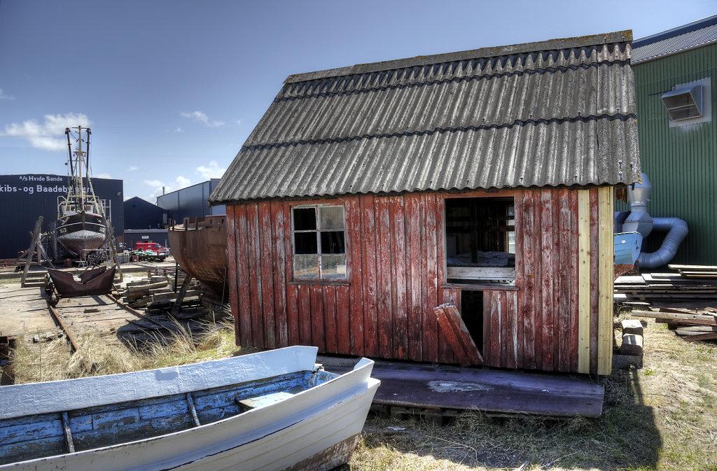 dänemark - ringkobing fjord  - hvide sande - auf der werft (06)