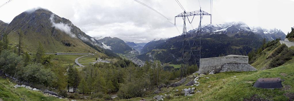 schweiz - gotthardpass  - teilpanorama