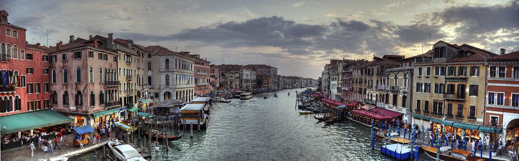 venedig (110) - canal grande abenddämmerung