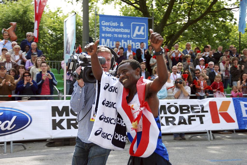 hamburg marathon 2009 - ehrenrunde solomon tside teil 2
