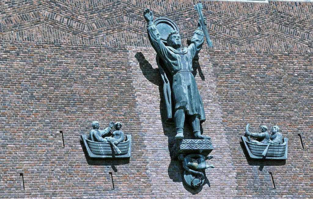 norwegen (163)  - oslo - rathaus
