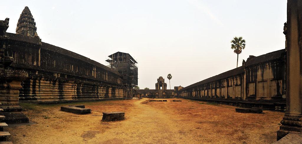 kambodscha - tempel von angkor - angkor wat (14) - teilpanorama