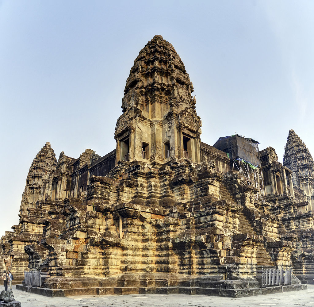 kambodscha - tempel von angkor - angkor wat (40) - teilpanorama